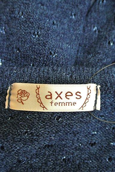 axes femme(アクシーズファム)レディース ニット PR10190973大画像6へ