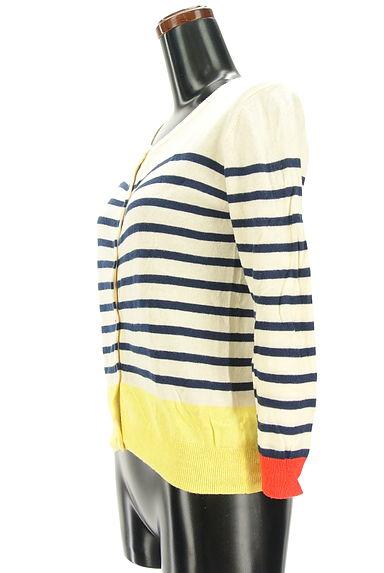 POU DOU DOU(プードゥドゥ)の古着「配色デザインカーディガン(カーディガン・ボレロ)」大画像3へ
