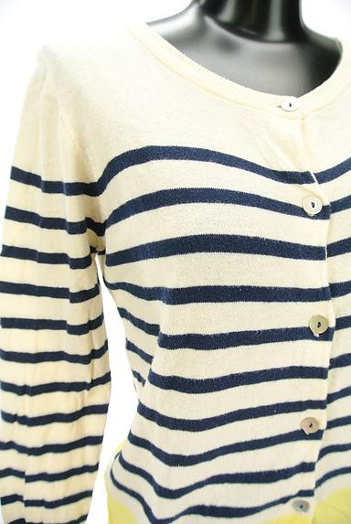 POU DOU DOU(プードゥドゥ)の古着「配色デザインカーディガン(カーディガン・ボレロ)」大画像4へ