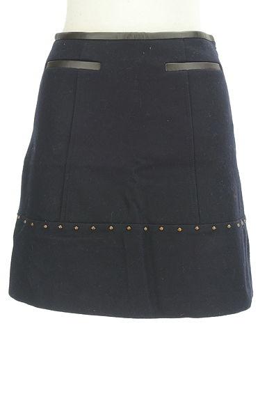 JUSGLITTY(ジャスグリッティー)の古着「レザーパイピングセミフレアスカート(ミニスカート)」大画像1へ