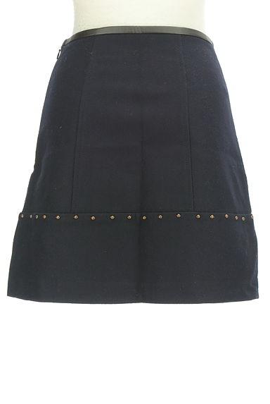 JUSGLITTY(ジャスグリッティー)の古着「レザーパイピングセミフレアスカート(ミニスカート)」大画像2へ