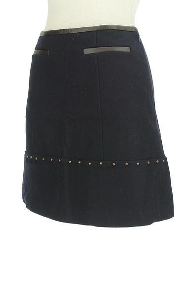 JUSGLITTY(ジャスグリッティー)の古着「レザーパイピングセミフレアスカート(ミニスカート)」大画像3へ