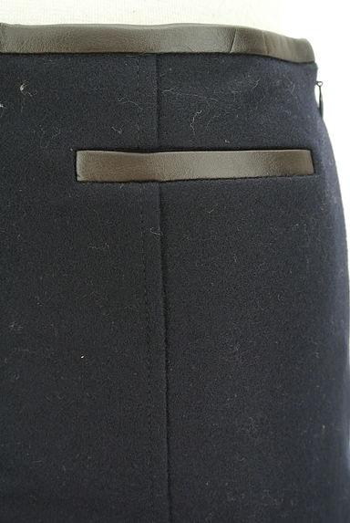 JUSGLITTY(ジャスグリッティー)の古着「レザーパイピングセミフレアスカート(ミニスカート)」大画像4へ
