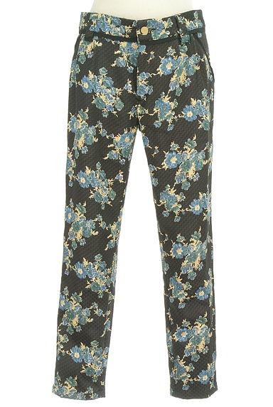 Rouge vif La cle(ルージュヴィフラクレ)の古着「花柄テーパードパンツ(パンツ)」大画像1へ