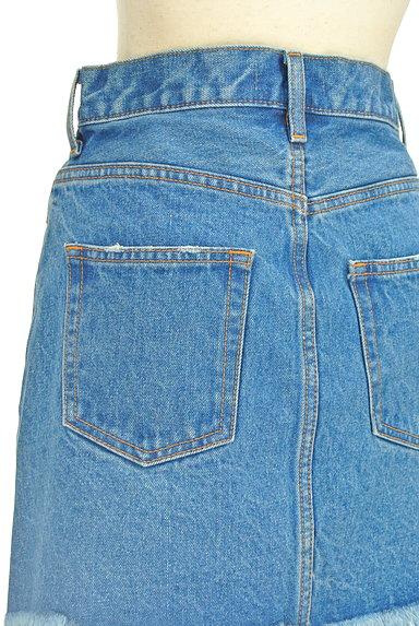 MOUSSY(マウジー)の古着「裾フリンジデニムスカート(ミニスカート)」大画像5へ