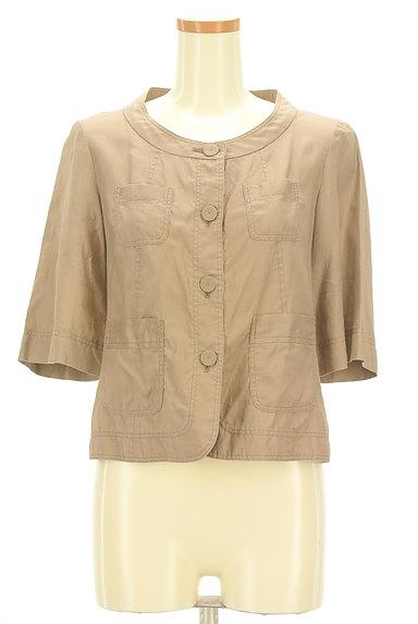 LAUTREAMONT(ロートレアモン)の古着「ポケット付薄手五分袖ブルゾン(ジャケット)」大画像1へ
