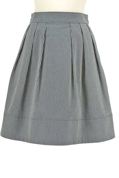 UNIVERVAL MUSE(ユニバーバルミューズ)の古着「ストライプ柄タックフレアスカート(スカート)」大画像1へ