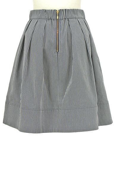 UNIVERVAL MUSE(ユニバーバルミューズ)の古着「ストライプ柄タックフレアスカート(スカート)」大画像2へ