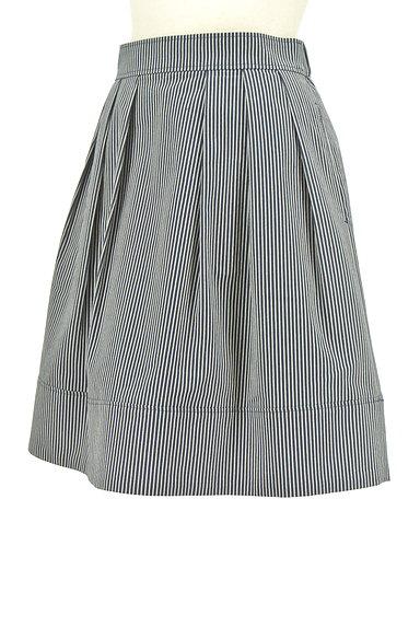 UNIVERVAL MUSE(ユニバーバルミューズ)の古着「ストライプ柄タックフレアスカート(スカート)」大画像3へ