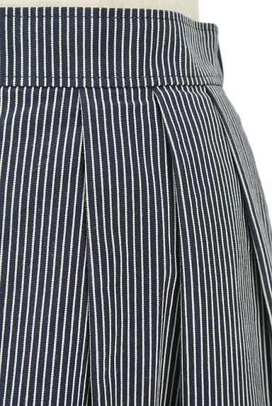 UNIVERVAL MUSE(ユニバーバルミューズ)の古着「ストライプ柄タックフレアスカート(スカート)」大画像5へ