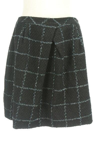 aquagirl(アクアガール)の古着「格子柄フリンジ膝上スカート(ミニスカート)」大画像1へ