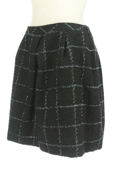 aquagirl(アクアガール)の古着「格子柄フリンジ膝上スカート(ミニスカート)」大画像3へ