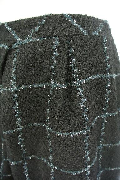 aquagirl(アクアガール)の古着「格子柄フリンジ膝上スカート(ミニスカート)」大画像4へ