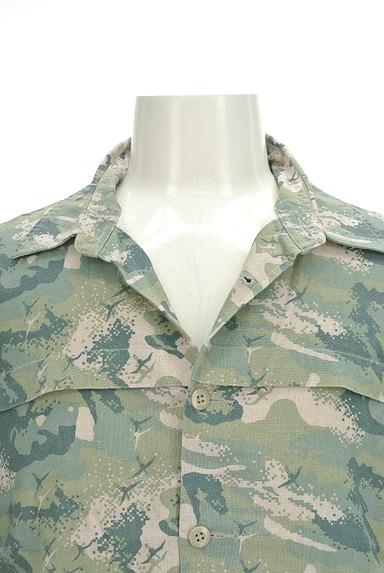 MONKEY TIME(モンキータイム)の古着「マリンテイストシャツ(カジュアルシャツ)」大画像4へ