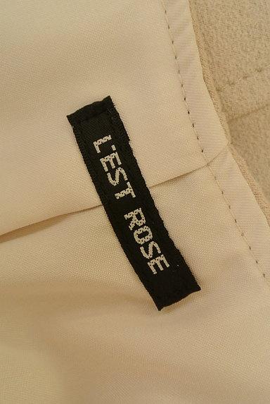 L'EST ROSE(レストローズ)の古着「ファー×スウェード切替ポンポンベスト(ベスト・ジレ)」大画像6へ