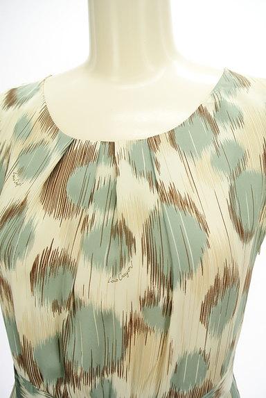 Lois CRAYON(ロイスクレヨン)の古着「ランダムドット柄フィット&フレアワンピ(キャミワンピース)」大画像4へ