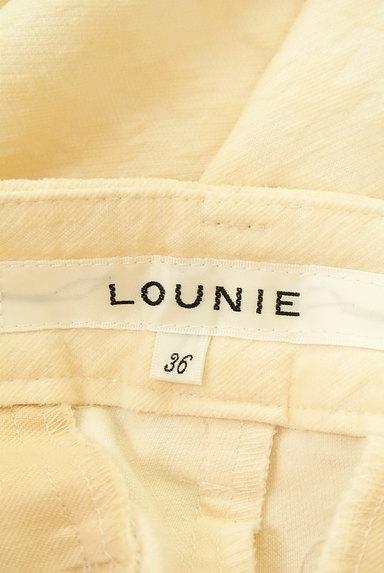 LOUNIE(ルーニィ)の古着「フロッキー千鳥格子柄ストレートパンツ(パンツ)」大画像6へ