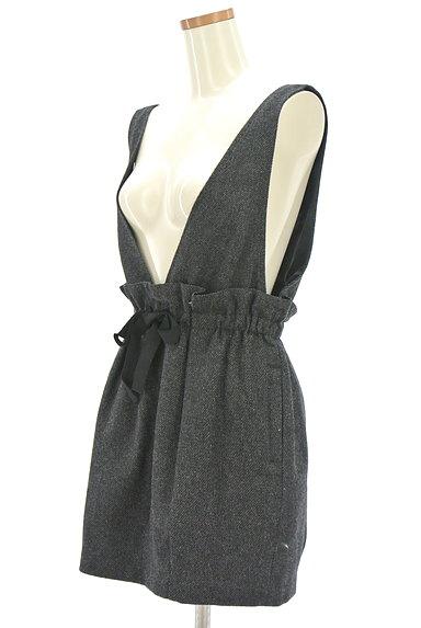 JILLSTUART(ジルスチュアート)の古着「ウエストリボンサロペットスカート(オーバーオール・サロペット)」大画像3へ