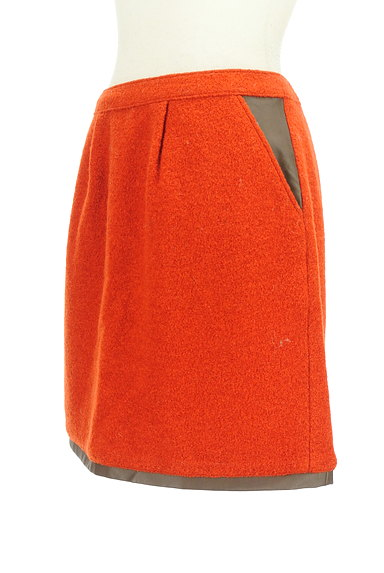QUEENS COURT(クイーンズコート)の古着「レザーパイピングセミタイトスカート(ミニスカート)」大画像3へ