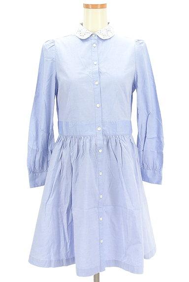 CHILD WOMAN(チャイルドウーマン)の古着「襟カットワークレースシャツワンピ(ワンピース・チュニック)」大画像1へ