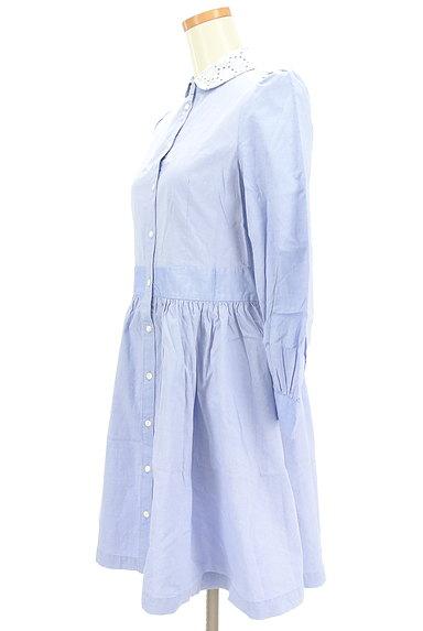 CHILD WOMAN(チャイルドウーマン)の古着「襟カットワークレースシャツワンピ(ワンピース・チュニック)」大画像3へ