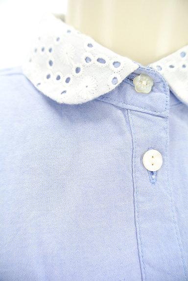 CHILD WOMAN(チャイルドウーマン)の古着「襟カットワークレースシャツワンピ(ワンピース・チュニック)」大画像4へ