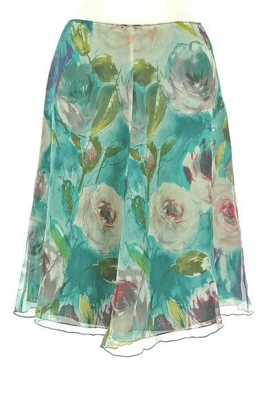 Blumarine(ブルマリン)の古着「水彩画風フラワーフレアスカート(スカート)」大画像1へ