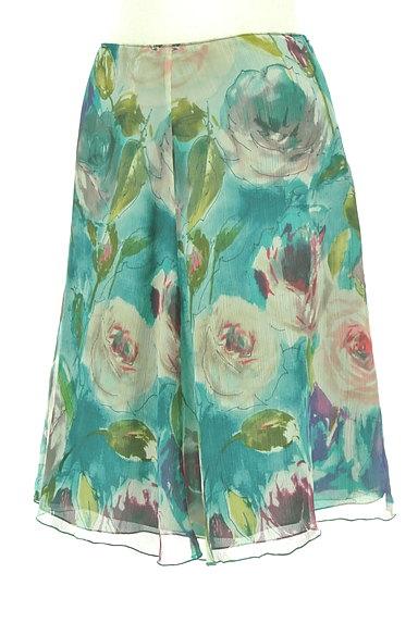 Blumarine(ブルマリン)の古着「水彩画風フラワーフレアスカート(スカート)」大画像3へ