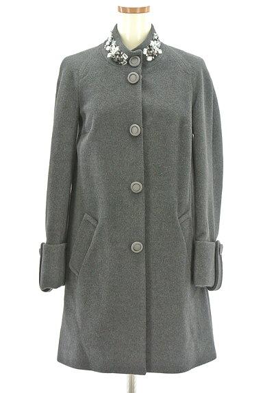 Blumarine(ブルマリン)の古着「ビジュー付Aラインミドル丈コート(コート)」大画像1へ