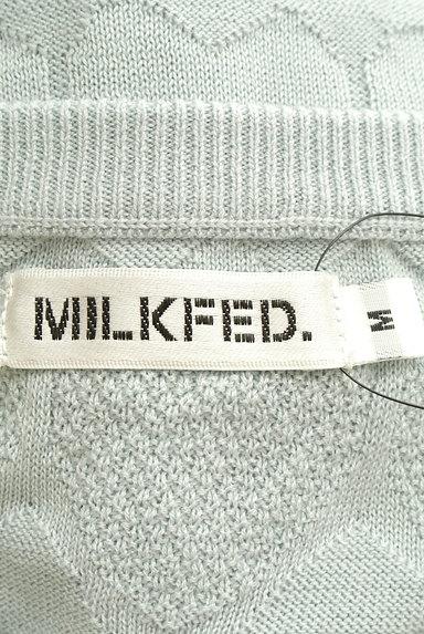 MILKFED.(ミルク フェド)の古着「ハート柄織り模様ニットカーデ(カーディガン・ボレロ)」大画像6へ