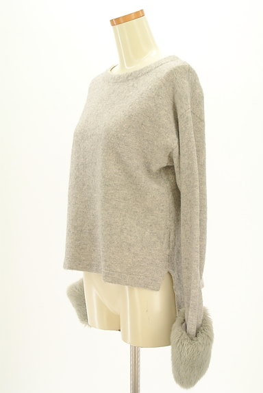 LAUTREAMONT(ロートレアモン)の古着「ファー袖付ロングヘムニット(ニット)」大画像3へ