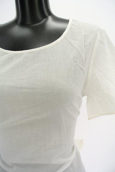 AZUL by moussy(アズールバイマウジー)の古着「BIGリボン結びトップス(カットソー・プルオーバー)」大画像4へ