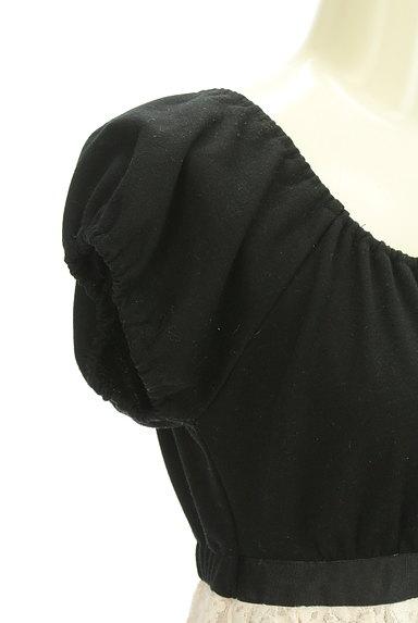 L'EST ROSE(レストローズ)の古着「パフスリトップス×レーススカート切替ワンピ(カットソー・プルオーバー)」大画像4へ