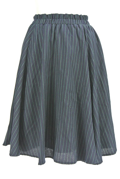 RD ROUGE DIAMANT(アールディー ルージュ ディアマン)の古着「ストライプ柄バックファスナースカート(スカート)」大画像1へ