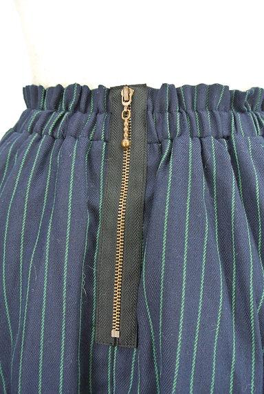 RD ROUGE DIAMANT(アールディー ルージュ ディアマン)の古着「ストライプ柄バックファスナースカート(スカート)」大画像4へ