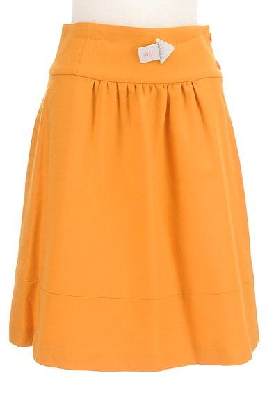 SLOBE IENA(スローブイエナ)の古着「リボンモチーフフレアスカート(スカート)」大画像4へ