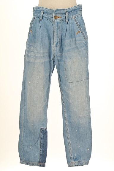 CUBE SUGAR(キューブシュガー)の古着「ペイント×パッチワークジーンズ(デニムパンツ)」大画像1へ