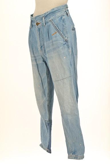 CUBE SUGAR(キューブシュガー)の古着「ペイント×パッチワークジーンズ(デニムパンツ)」大画像3へ