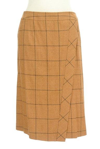 SCAPA(スキャパ)の古着「格子柄ラップ風デザイン膝丈スカート(スカート)」大画像1へ