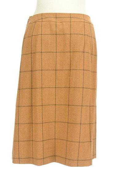 SCAPA(スキャパ)の古着「格子柄ラップ風デザイン膝丈スカート(スカート)」大画像2へ