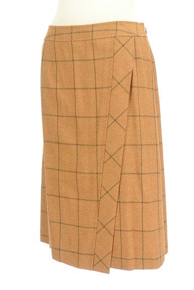 SCAPA(スキャパ)の古着「格子柄ラップ風デザイン膝丈スカート(スカート)」大画像3へ