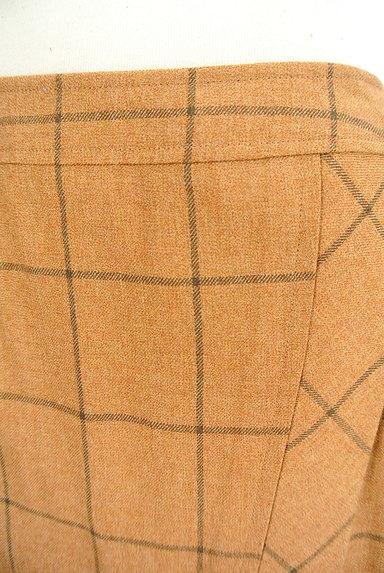 SCAPA(スキャパ)の古着「格子柄ラップ風デザイン膝丈スカート(スカート)」大画像4へ