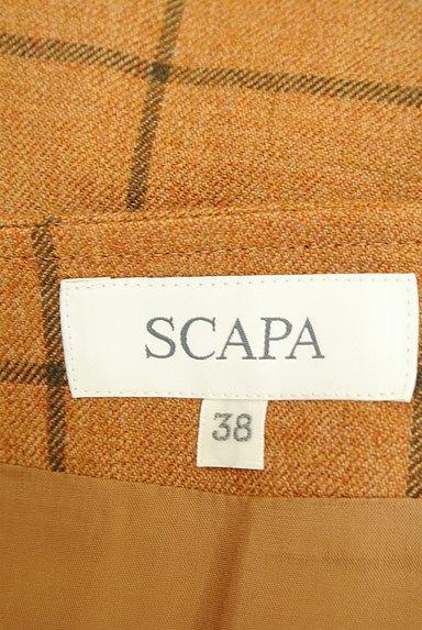 SCAPA(スキャパ)の古着「格子柄ラップ風デザイン膝丈スカート(スカート)」大画像6へ