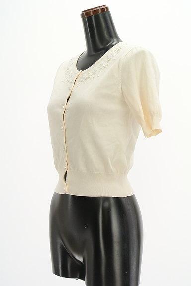 LAISSE PASSE(レッセパッセ)の古着「ビーズデザインコンパクトカーディガン(カーディガン・ボレロ)」大画像3へ