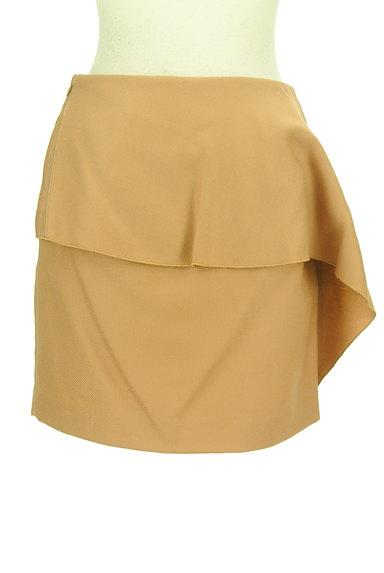 INDIVI(インディヴィ)の古着「ドレープフリルセミタイトミニ(ミニスカート)」大画像2へ