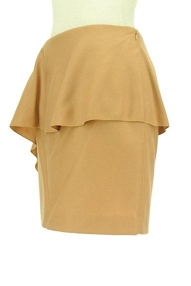 INDIVI(インディヴィ)の古着「ドレープフリルセミタイトミニ(ミニスカート)」大画像3へ
