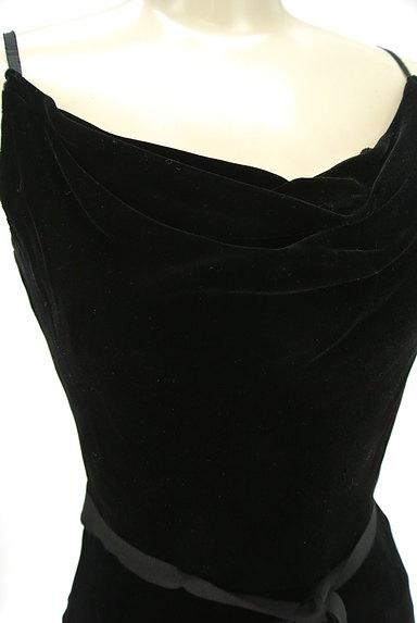 LAUTREAMONT(ロートレアモン)の古着「ウエストリボン付ベロアロングワンピース(キャミワンピース)」大画像4へ