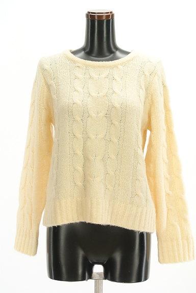 SM2(サマンサモスモス)の古着「ケーブル編みセーター(セーター)」大画像1へ