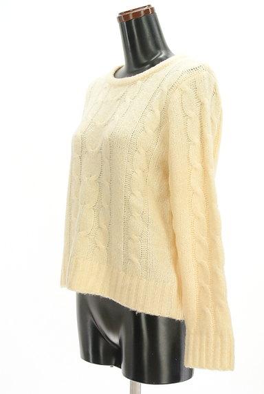 SM2(サマンサモスモス)の古着「ケーブル編みセーター(セーター)」大画像3へ