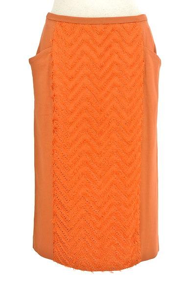 MICHEL KLEIN(ミッシェルクラン)の古着「サイドフリンジ刺繍切替ミディ丈スカート(スカート)」大画像1へ